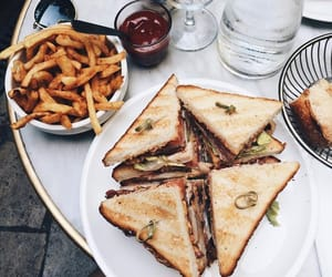 food, fries, and sandwiches image