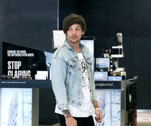 blue, louis tomlinson, and one direction image
