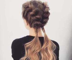 braids, long hair, and curls image