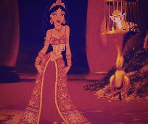 jasmine, aladdin, and disney image