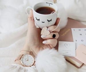 girl, tea, and cup image