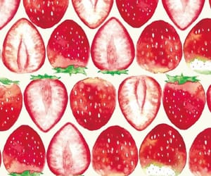 background, red, and strawberry image