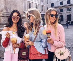 friends, fashion, and girl image