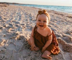 baby, ocean, and beach image