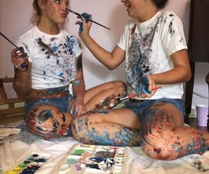 friends, bff, and paint image