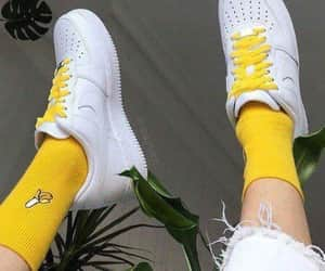 yellow, shoes, and banana image