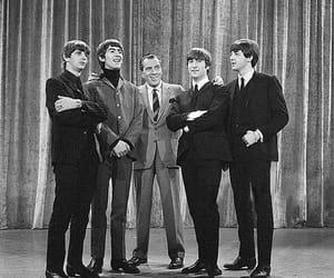 george, john lennon, and Paul McCartney image