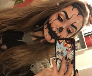 girl, helloween, and make up image
