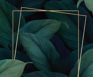 abstract, gold, and green image