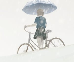 anime, umbrella, and wallpaper image