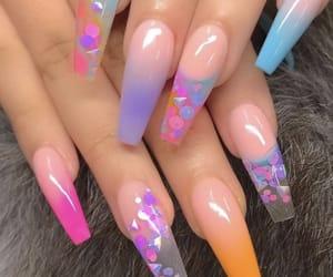 acrylic, girl, and nails image