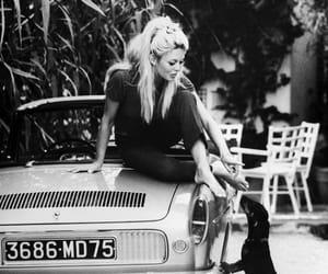 brigitte bardot, black and white, and dog image