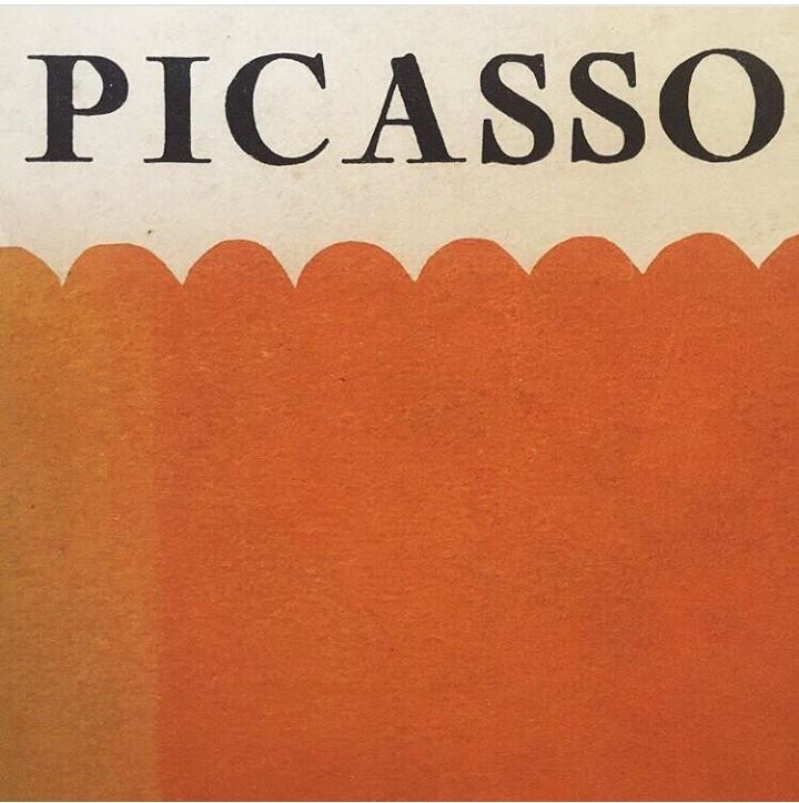 art, picasso, and orange image