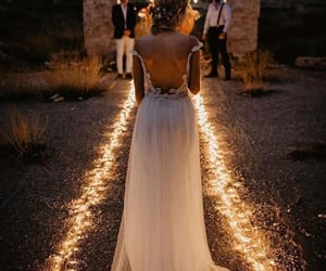 light, wedding, and bride image