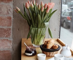 flowers, breakfast, and coffee image