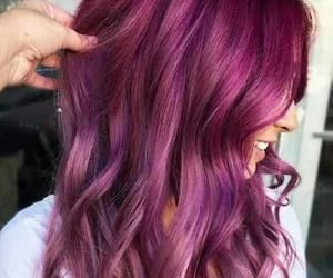 purple hair, fantasy color hair, and fantasy hair image
