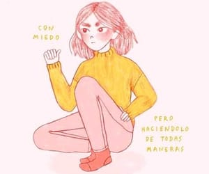 frases, girl, and miedo image