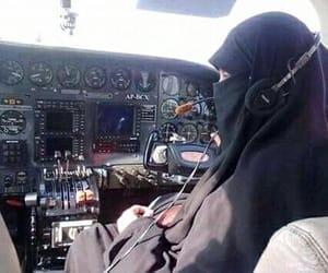 hijab, niqab, and pilot image