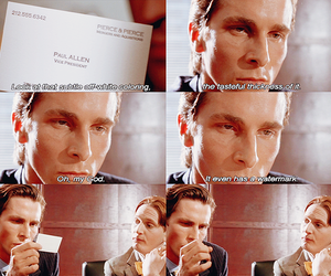 american psycho, movie, and bale image