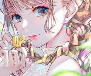 anime, illustration, and illustration girl image