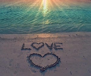 love and beach image
