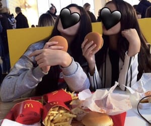 fast food, friend, and sister image