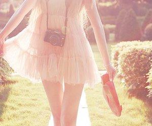 girl, dress, and camera image