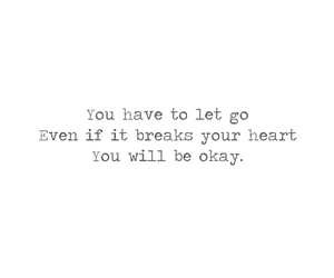 heart, let go, and quote image