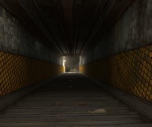 corridor, dark, and fallout image