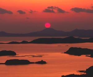 theme, sunset, and orange image