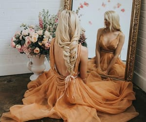 style, dress, and hair image