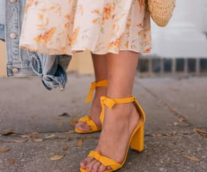 shoes, yellow, and autumn image