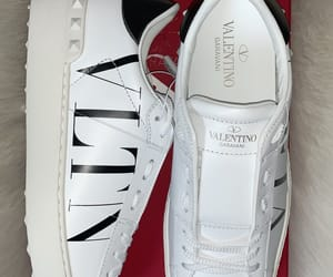 shoes, vltn, and white shoes image
