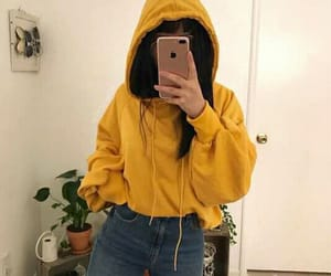 yellow, outfit, and style image