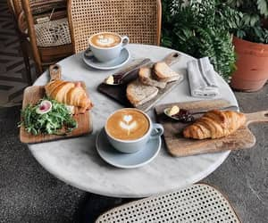 coffee, food, and bread image