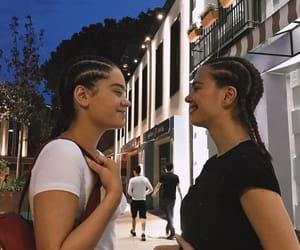 black and white, braids, and girls image