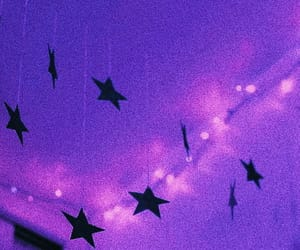 stars, light, and purple image