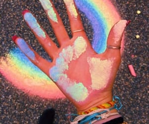 rainbow, aesthetic, and chalk image