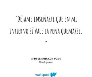 frases, fuego, and infierno image