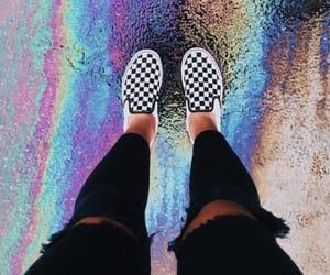 rainbow, vans, and aesthetic image