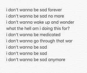 Lyrics, song, and sad forever image