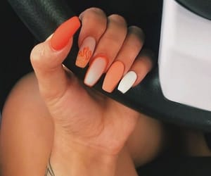 nails, fire, and orange image