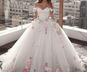 dress, fashion, and bride image