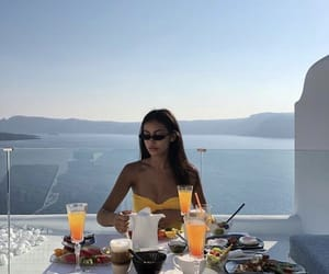 cindy kimberly, breakfast, and ocean image