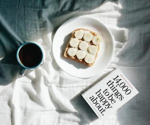 book, coffee, and banana image