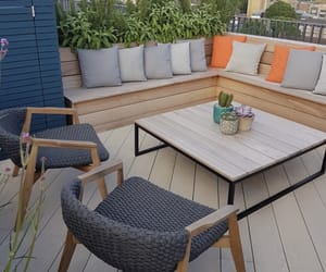 balcony, chairs, and cozy image