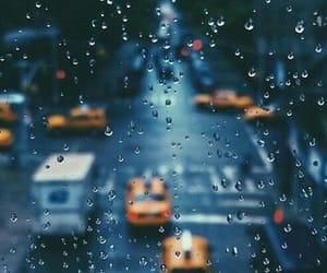rain, city, and wallpaper image
