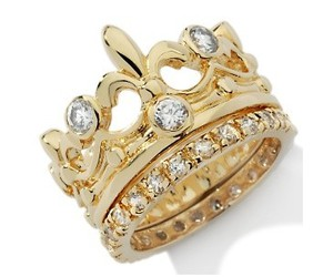 gold, ring, and crown image
