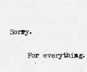 sorry, quotes, and everything image