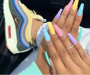 art, color, and colorful nails image